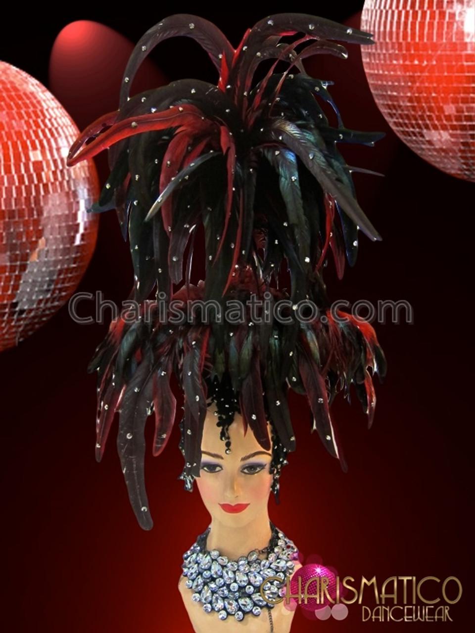Charismatico Silver Black BUTTERFLY STUNNING DRAG QUEEN DIVA Headdress