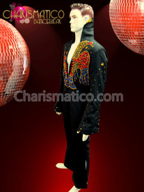 "CHARISMATICO Gemstone ELVIS eagle patterned 1970's retro-styled Vegas ""Lounge Lizard"" dance costume"