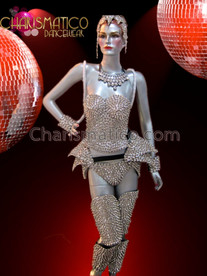 CHARISMATICO Full Gaga inspired spiky costume set (corset, hip, leg and arms)