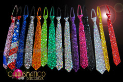 CHARISMATICO Crystal Covered Mens Wear Pre-Tied Necktie In Assorted Colors And Patterns