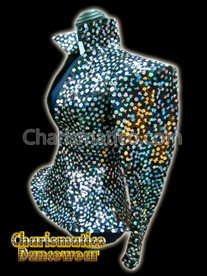 SILVER BLACK Sequin DRAG QUEEN DIVA JACKET