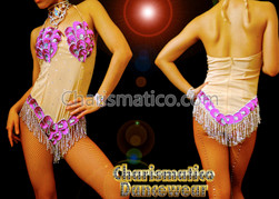 Pink Samba Carnival Sexy Sequin Bodysuit