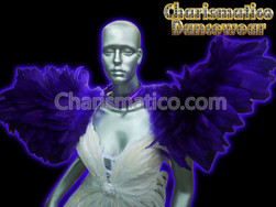 PURPLE Drag Queen BRAZIL CABARET Feather SHOULDER COLLAR