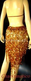 Gold Shiny Fringe Latin Dress