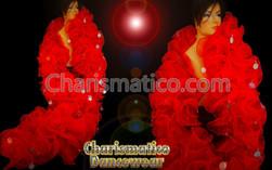 Red Ruffle Organza Drag Queen Cabaret Boa
