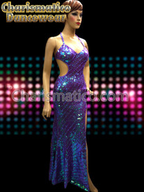 Purple Sequin Show Drag Queen Transvestite Pageant Gown