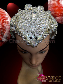 CHARISMATICO Skullcap Shaped Silver Studded Crown For A Simple Yet Great Look