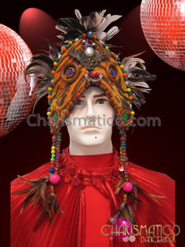 CHARISMATICO Indian Wedding Style Feather Headdress
