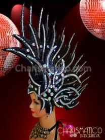 CHARISMATICO Dazzling Gleaming Mohawk Samba Black Brilliant Headdress