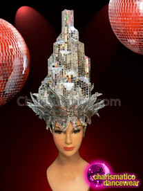 CHARISMATICO Stunning silver diva queen's sexy crown and headdress set