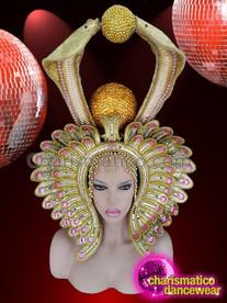 CHARISMATICO Stunning Magnificent Brilliant Splendid Royal Gold Headdress