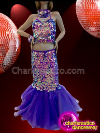CHARISMATICO Ravishing Beautiful Sparkling Marvelous Eye-Catching Diva Purple Dress