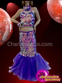 CHARISMATICO Ravishing Beautiful Sparkling Marvelous Eye-catching Diva purple Dress