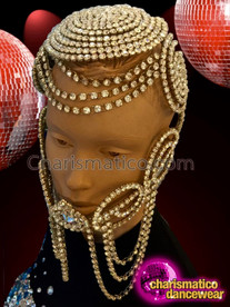 CHARISMATICO Extravagant Elaborate Crystallized Shining Mask