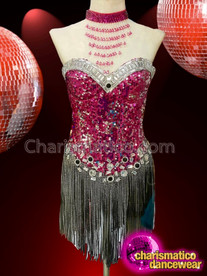 CHARISMATICO Simple yet sexy showstopper drag queen's knee length dress