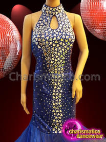 CHARISMATICO Royal Enchanting Blue Drag Sequin Pageant Gown