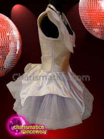 CHARISMATICO White Diva Dolly Show Girl Dance Sequinned Dress