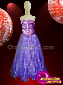 CHARISMATICO Purple LED diva drag queen light show girl gown