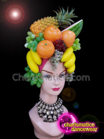 CHARISMATICO Tropical diva shoe girl fruit sequinned headdress