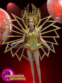 CHARISMATICO Gold show time diva Madonna super bowl costume set