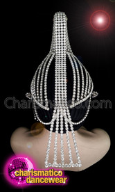CHARISMATICO Crystallized Diva Show Time Bird Headpiece With Silver Crystals