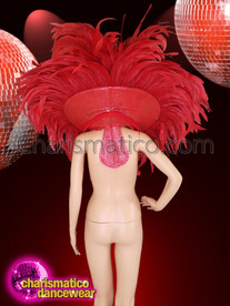 CHARISMATICO Collar set and headdress for the Cabaret dancers in rich reddish hue