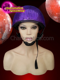 CHARISMATICO  Shimmering night club Disco ball purple mirror helmet