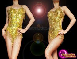 CHARISMATICO V-Shape Sequin Showgirl Leotard