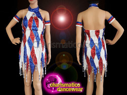 CHARISMATICO Independence day 4th July Dress white royal blue red dress
