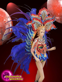 CHARISMATICO Cabaret Costume Set With Feathers And Sequins For A Perfect Diva Look