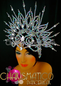 Spiky Edgy Sparkling Diva Beads Queen Hair Crown