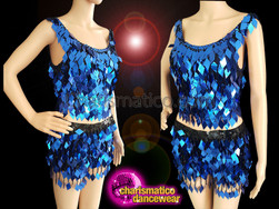 CHARISMATICO Discover The Meaning Of Glamour In Royal Blue Diva Top And Shorts