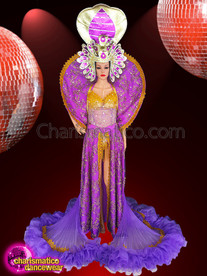 CHARISMATICO Bring Elegance To Your Personality With Royal Purple Costume And Headdress