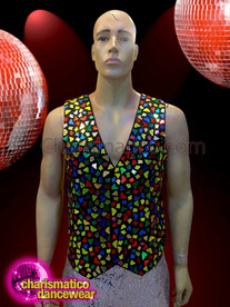 CHARISMATICO Have a phenomenal visual appeal with this colorful mirror vest for men