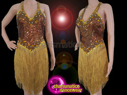 CHARISMATICO Mixture Of Red With Golden Shimmer On A Dance Dress