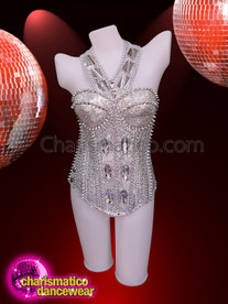 CHARISMATICO Bring Grace To Your Looks With This Silver Corset