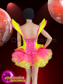 CHARISMATICO Feel Like One Of The Fairies With This Pink And Lemon-Yellow Corset And Tutu Set
