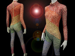 CHARISMATICO  Lgbt Gay Pride Drag Queen Wonderful Rainbow Catsuit