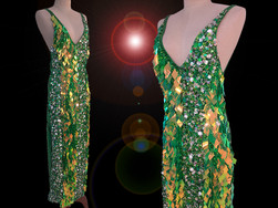 CHARISMATICO  Charismatic And Appealing Long Length Dress Of Dazzling Green