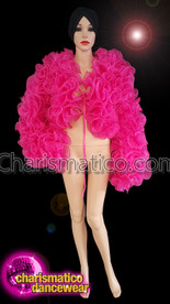 CHARISMATICO Magnificent Drag Queen Organza Jacket In Sterling Shocking Pink