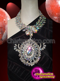 CHARISMATICO Dazzling crystallized necklace with shimmering beauty for every diva