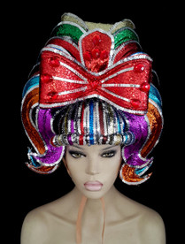 CHARISMATICO  Rainbow Gay Pride Showgirl Headdress In A Variety Of Colors
