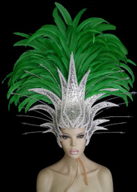 CHARISMATICO Twinkle Brightly Like The Stars With This Green And Silver Diva Headdress