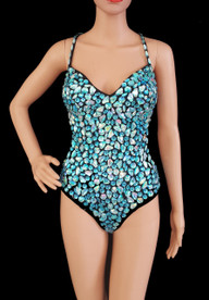 CHARISMATICO Get The Sexiest Look Ever With This Dazzling Blue Crystal Leotard