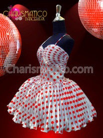 "CHARISMATICO Marilyn Monroe's White and Red Polka Dot Dress ""Some Like it Hot"""