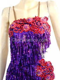 Purple Red Salsa Dance Dress