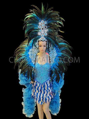 HOT PINK BOA Feather Wings,Stage Performance,Dance wear,Drag Queen,Gay Guy-Brazilian Rio Costume.Samba Beads Carnival-Backpack,Headpiece
