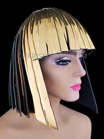Multi-color Cher Drag Queen long GAY Show beaded wig