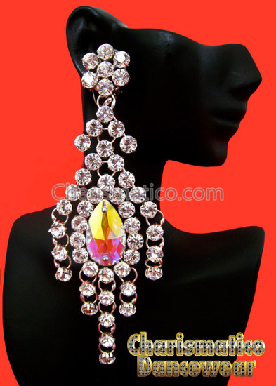 Elegant Crystal Diva Tear Drop Swarovski Earrings