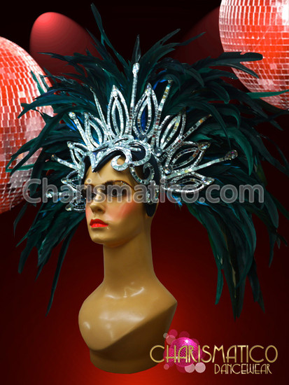 Black Feather Carnival Rio Gay Pride Head Piece Headdress
